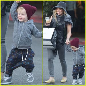 Hilary Duff: Beverly Glen Center Christmas Shopping with Luca!