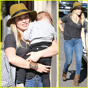 Hilary Duff: Luca Bonding Before NYC Flight!