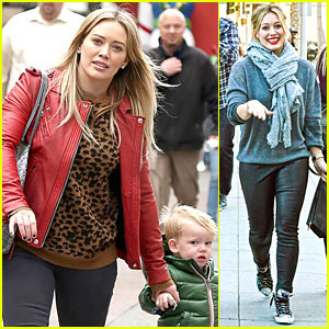 Hilary Duff: Santa Claus Visit with Luca!