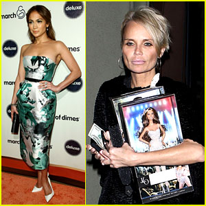Jennifer Lopez Gives Kristin Chenoweth Her J.Lo Barbie Dolls!