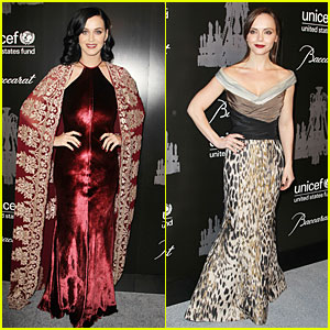 Katy Perry & Christina Ricci: UNICEF Snowflake Ball 2013!