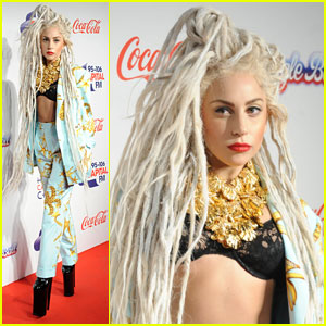 Lady Gaga: Bleached Dreadlocks for Capital FM Jingle Ball 2013