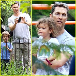 Matthew McConaughey: Family Zoo Trip in Brazil!