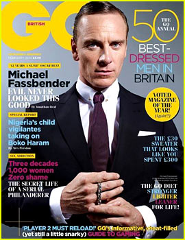 Michael Fassbender Covers 'British GQ' February 2014