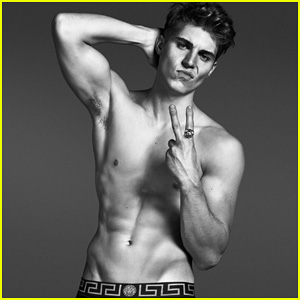 Nolan Gerard Funk Goes Shirtless for Versace's Spring 2014 Campaign!
