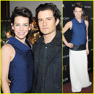 Orlando Bloom & Evangeline Lilly: 'Hobbit' NYC Screening!
