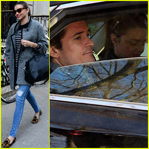 Orlando Bloom Drives in Car with Miranda Kerr After 'Today' Visit