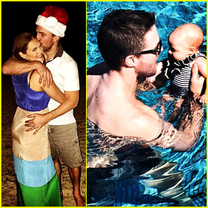 Stephen Amell: Hawaii Trip with Cassandra Jean & Baby Mavi!