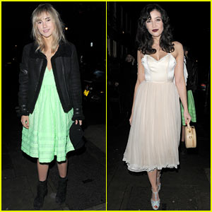 Suki Waterhouse & Daisy Lowe: 'Love' Magazine's Holiday Party!