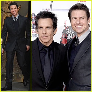 Tom Cruise Honors Ben Stiller at Hand & Footprint Ceremony!