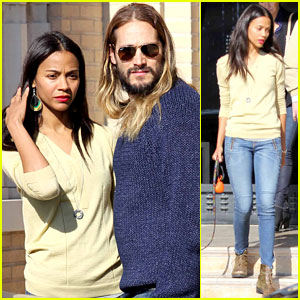 Zoe Saldana & Marco Perego: Christmas Shopping Couple!