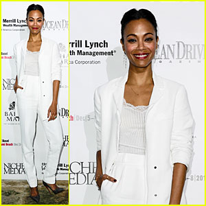 Zoe Saldana: Niche Media Party Host!