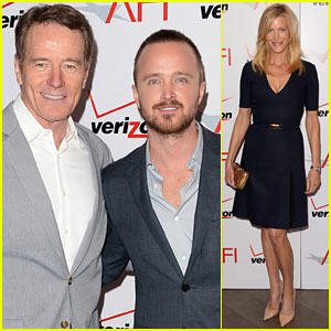 Aaron Paul & Bryan Cranston - AFI Awards Luncheon 2014