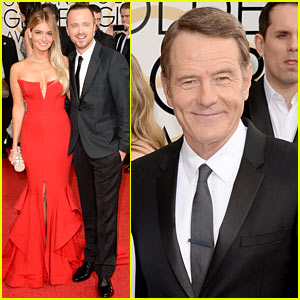 Aaron Paul & Bryan Cranston - Golden Globes 2014 Red Carpet