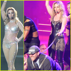 Britney Spears Ties Up Boyfriend David Lucado During New Year's Eve Concert!