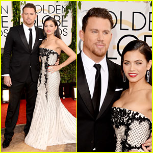 Channing Tatum & Jenna Dewan - Golden Globes 2014 Red Carpet