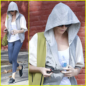 Charlize Theron Closes Out January with Yoga Session!