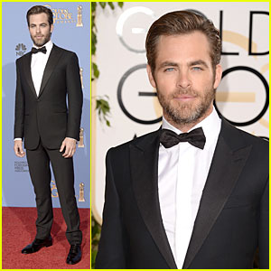 Chris Pine - Golden Globes 2014 Red Carpet