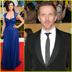 Damian Lewis & Morena Baccarin - SAG Awards 2014 Red Carpet