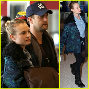Diane Kruger & Joshua Jackson Fly to Sundance Film Festival!