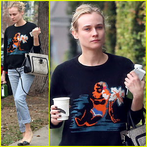 Diane Kruger Looks Fresh Faced, Goes Makeup Free in Cali