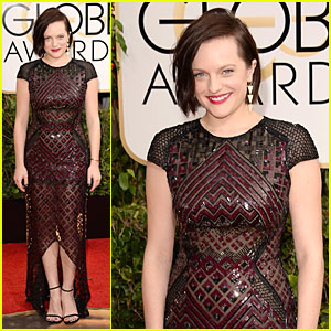 Elisabeth Moss - Golden Globes 2014 Red Carpet