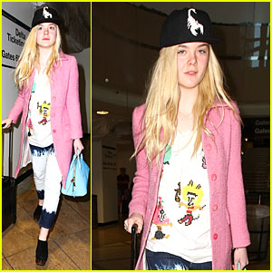 Elle Fanning Wraps Up Sundance Promo with LAX Landing!