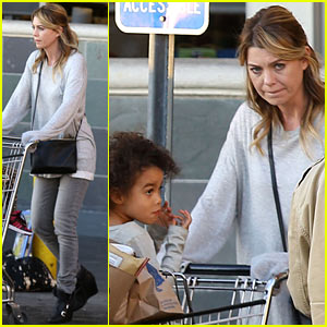 Ellen Pompeo Spills Some Coconuts in Whole Foods Parking Lot!