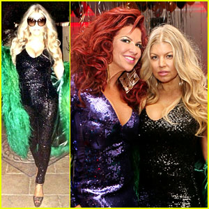 Fergie Rocks Sparkling Jumpsuit at Slash's New Year's Eve Party