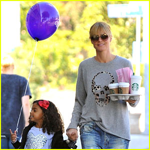Heidi Klum: Morning Coffee Run with Daughter Lou!