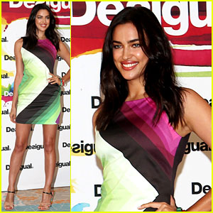 Irina Shayk Presents New Desigual Campaign in Spain