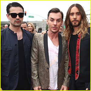 Jared Leto & Thirty Seconds to Mars - Grammys 2014 Red Carpet