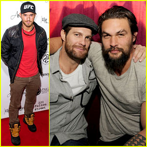Jason Momoa & Geoff Stults: Football Fun at Sundance!