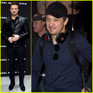 Jeremy Renner: Diesel Black Gold Fashion Show in Florence!