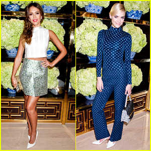 Jessica Alba & Jaime King: Tory Burch Flagship Store Opening!