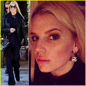 Jessica Simpson's Diamond Drop Earrings Are So Gorgeous - See Pics Here!