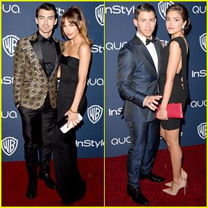 Joe & Nick Jonas Bring Girlfriends to Golden Globes 2014!