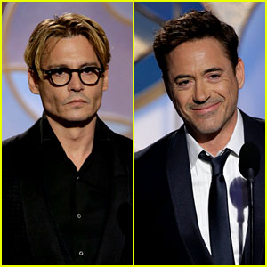 Johnny Depp & Robert Downey Jr. - Golden Globes 2014