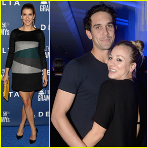 Kaley Cuoco & Ryan Sweeting: Delta Airlines Pre-Grammy Party