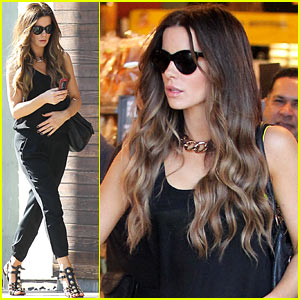 Kate Beckinsale: Super Stylish Whole Foods Run