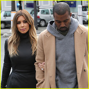 Kim Kardashian & Kanye West: Lunch Lovers in Paris!