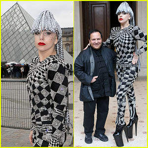 Lady Gaga Visits Museums in Paris Wearing Interesting Outfit!