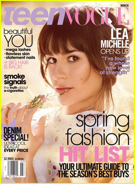 Lea Michele Covers 'Teen Vogue' Magazine March 2014