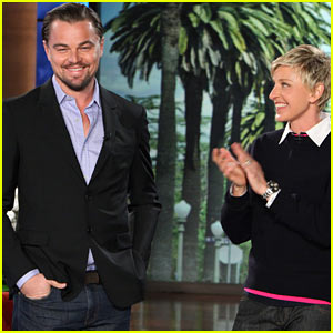Leonardo DiCaprio Discusses Shark Survival Story on 'Ellen'!