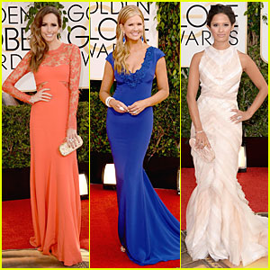 Louise Roe & Nancy O'Dell - Golden Globes 2014 Red Carpet