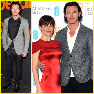 Luke Evans & Helen McCrory: 2014 BAFTA Film Awards Nominations Photo Call!
