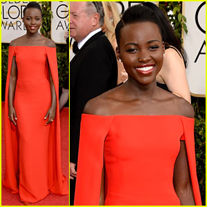 Lupita Nyong'o - Golden Globes 2014 Red Carpet