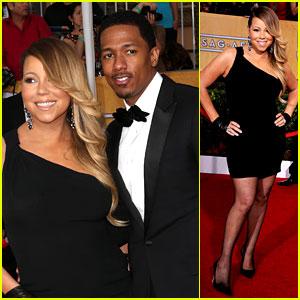 Mariah Carey: SAG Awards 2014 Red Carpet with Nick Cannon!