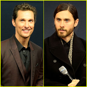 Matthew McConaughey & Jared Leto Are the Sexiest Geniuses at the Apple Store!