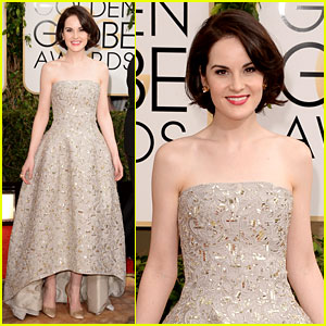 Michelle Dockery - Golden Globes 2014 Red Carpet